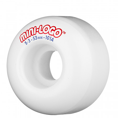 Mini Logo® S-3 53mm 101a - White (4 pack)