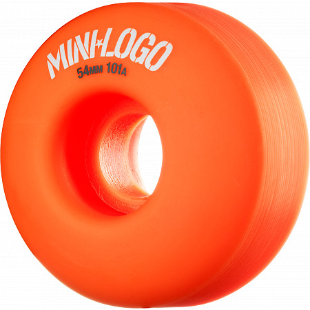 Mini Logo Wheel C-cut 54mm 101A Orange 4pk