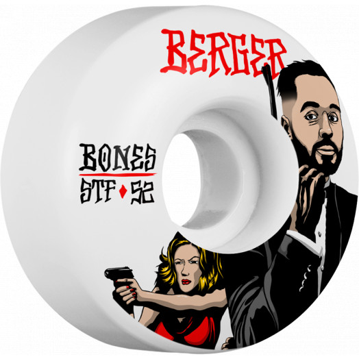 BONES WHEELS STF Pro Berger Spy Skateboard Wheel V3 52mm 103A 4pk