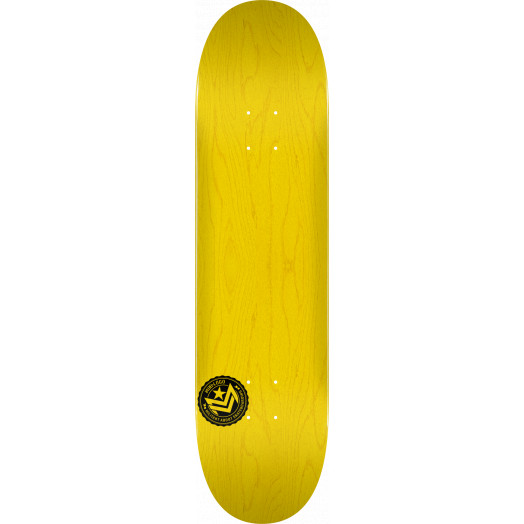 "MINI LOGO CHEVRON STAMP ""12"" SKATEBOARD DECK 170 YELLOW - 8.25 X 32.5"