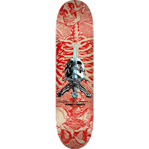 Powell Peralta Skull and Sword Skateboard Deck Red 242 K20 - 8 x 31.45