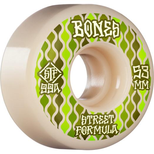 BONES WHEELS STF Skateboard Wheels Retros 53mm V2 Locks 99A 4pk