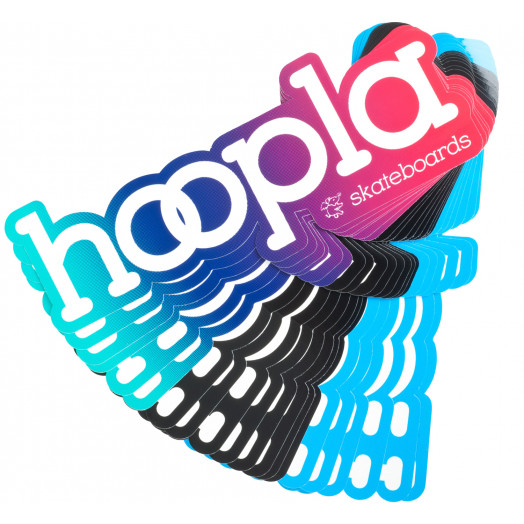 "hoopla 6"" sticker 3 colorways"