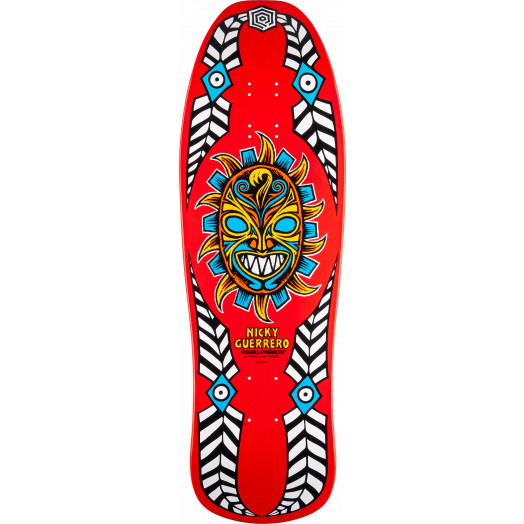 Powell Peralta Guerrero Mask Skateboard Blem Deck Natural - 10 x 31.75