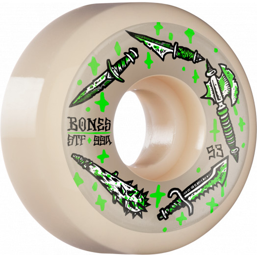 BONES WHEELS STF Skateboard Wheels Dark Days 53mm V5 Sidecut 99a 4pk