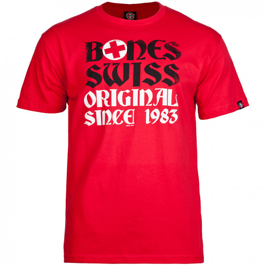 Bones® Bearings Swiss OG 83 T-shirt - Red