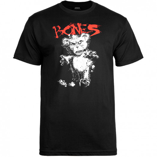 BONES WHEELS Deady Bear T-shirt - Black