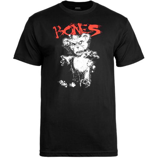 BONES WHEELS Deady Bear T-shirt - Black