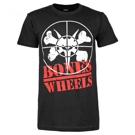 BONES WHEELS Enemy T-shirt - Black