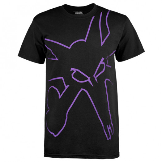 BONES WHEELS Outline Black T-shirt