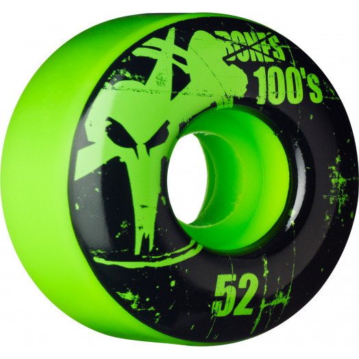 BONES WHEELS 100 Slims 52mm - Green (4 pack)