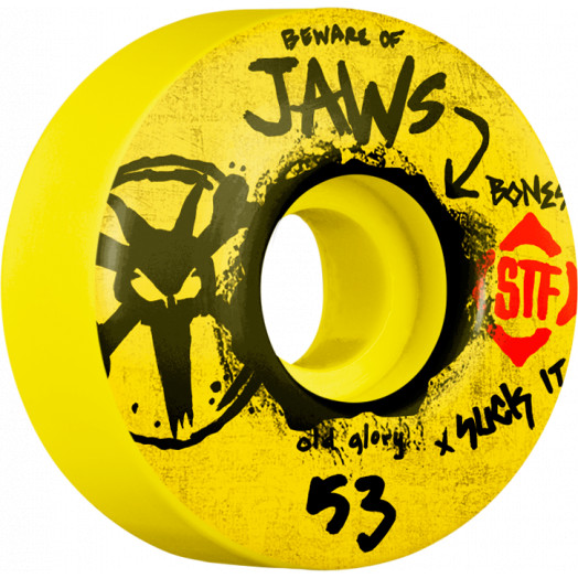 BONES WHEELS STF Pro Homoki Glory 53mm wheels 4pk Yellow