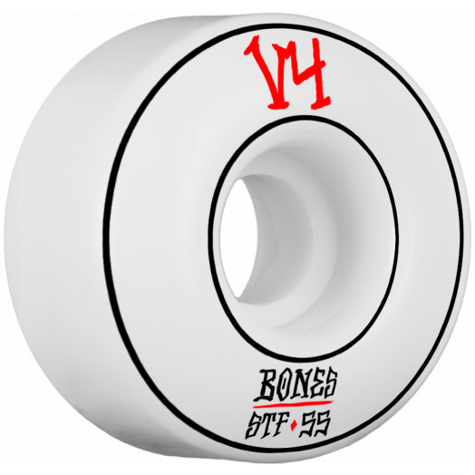 BONES WHEELS STF Annuals Skateboard Wheel Wides 55mm 4pk White