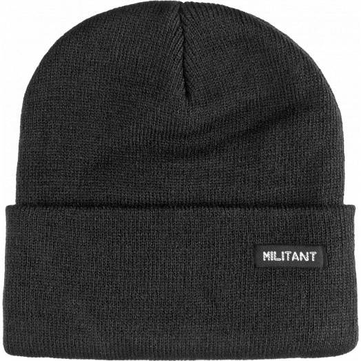Mini Logo Beanie Militant Army Black