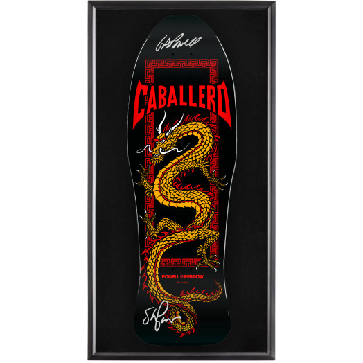 Bones Brigade® Shadowbox Caballero Skateboard Deck Black - Signed by George/Stacy