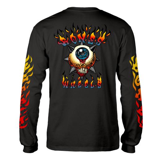 BONES WHEELS Iron Sun L/S Shirt Black