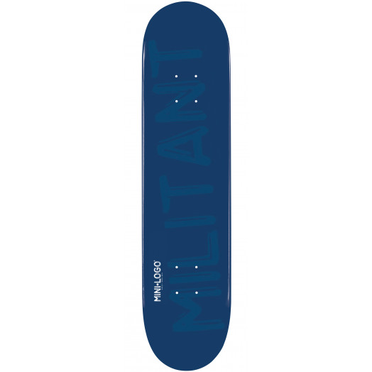 Mini Logo Militant Skateboard Deck 191 Navy - 7.5 x 28.65