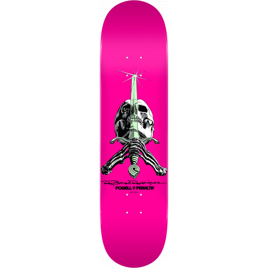 Powell Peralta Skull and Sword Skateboard Blem Deck Pastel Pink 244 K20 - 8.5 x 32.08