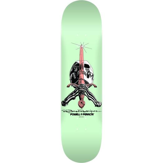 Powell Peralta Skull and Sword Skateboard Blem Deck Pastel Green 246 K21 - 9.05 x 32.95