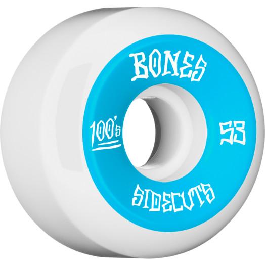 BONES WHEELS 100 #2 V5 Skateboard Wheel 53mm 4pk White V5 Sidecut