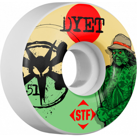 BONES WHEELS STF Pro Dyet Swamp Thing 51mm wheels 4pk