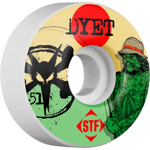 BONES WHEELS STF Pro Dyet Swamp Thing 51mm wheels 4pk