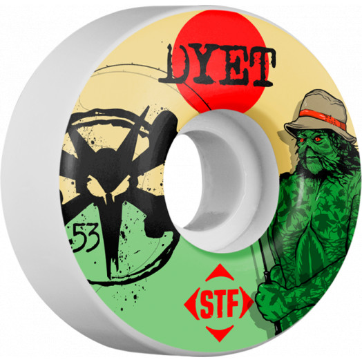 BONES WHEELS STF Pro Dyet Swamp Thing 53mm wheels 4pk