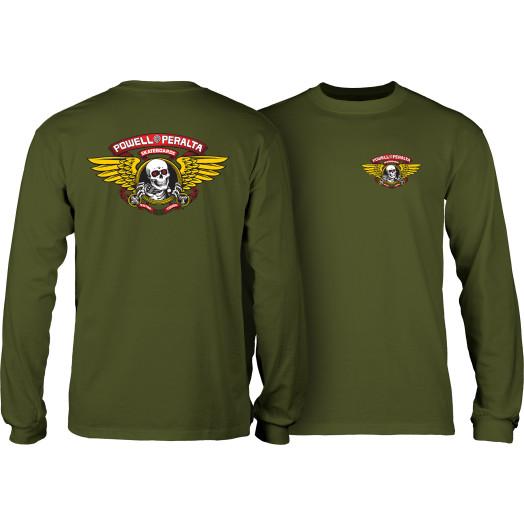 Powell Peralta Winged Ripper L/S T-shirt Military Green