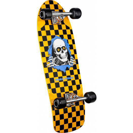 Powell Peralta Checkered Ripper Complete Assembly Yellow - 10 x 31.125