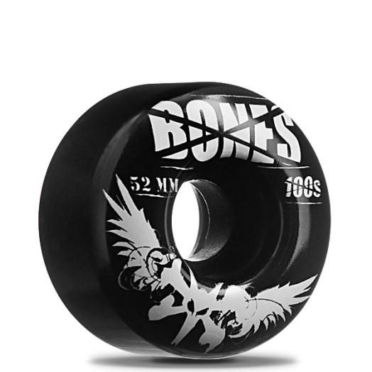 BONES WHEELS 100 Black 52/100a (4 pack)