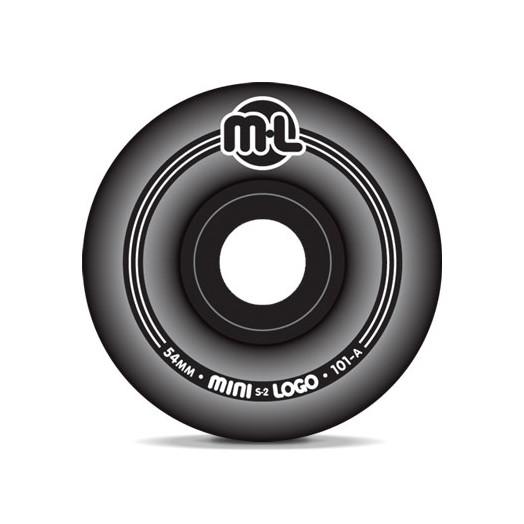 Mini Logo S-2 Black Wheels 54/101a(4pack)