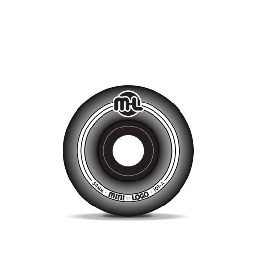 Mini Logo S-3 Black Wheels 54/101a(4pack)
