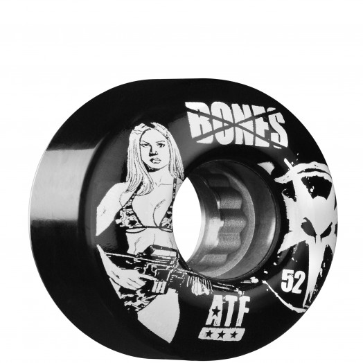 BONES WHEELS ATF Bikini Girl 52mm - Black (4 pack)