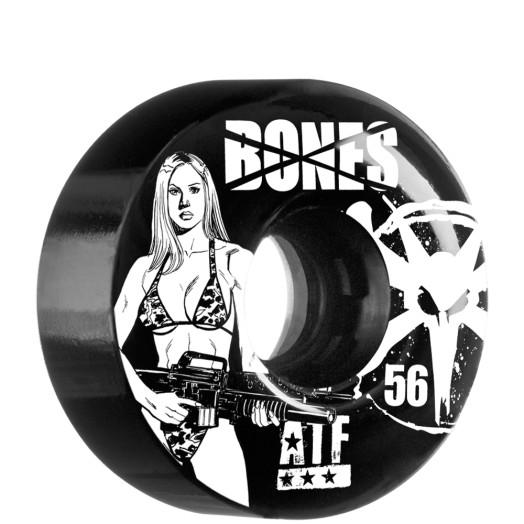 BONES WHEELS ATF Bikini Girl 56mm - Black (4 pack)