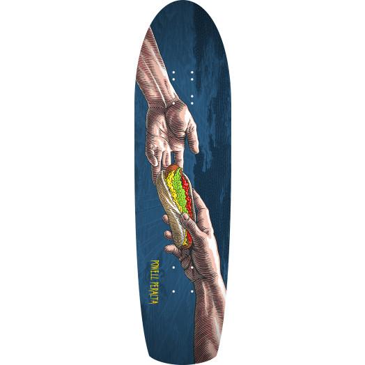 Powell Peralta Skateboard Deck Funshape Hands Navy - 8.4 x 31.5