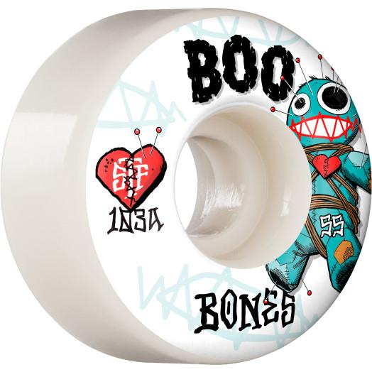 BONES WHEELS PRO STF Skateboard Wheels Boo Voodoo 55mm V4 Wide 103A 4pk