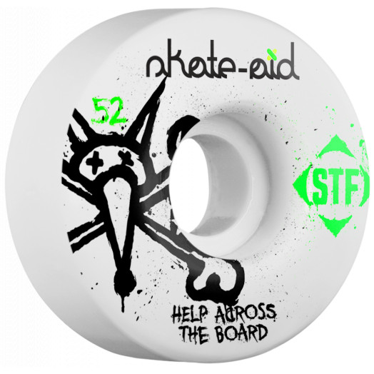 BONES STF Skate Aid Collabo 52x31 V1 Skateboard Wheel 83B 4pk