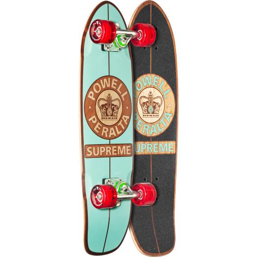 Powell Peralta Sidewalk Surfer Supreme Mint Skateboard Cruiser Assembly - 7.75 x 27.20 WB 14.0