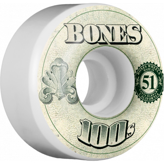 BONES WHEELS 100's OG Formula 51x32 V4 Skateboard Wheels 100a 4pk