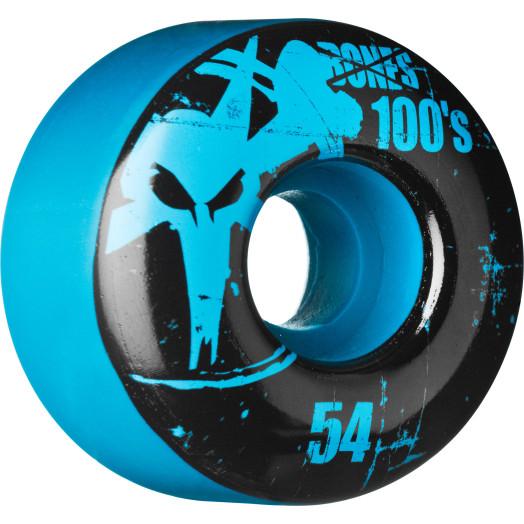 BONES WHEELS 100 Slims 54mm - Blue (4 pack)
