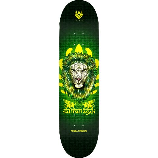 Powell Peralta Pro Salman Agah Lion Flight® Skateboard Deck - Shape 245 - 8.75 x 32.95