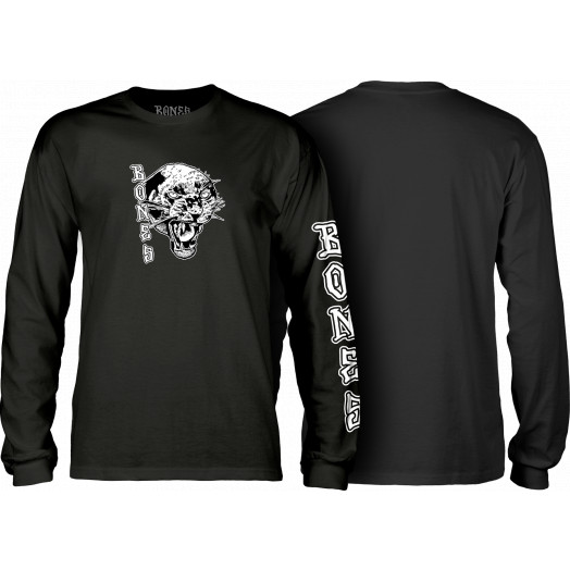 BONES WHEELS Night Prowler Longsleeve T-shirt - Black