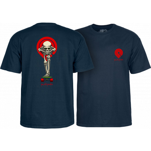 Powell Peralta Tucking Skeleton T-shirt Navy