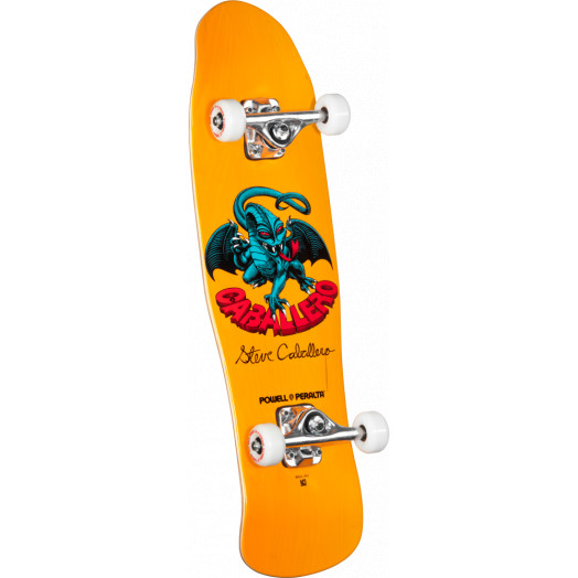 Powell Peralta Mini Caballero Dragon II 4 Complete Skateboard Yellow - 8 x 29.5