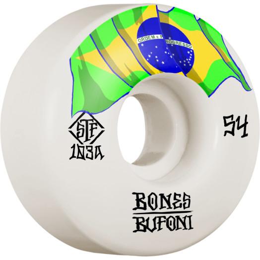 BONES WHEELS PRO STF Skateboard Wheels Bufoni Origin 54mm V1 Standard 103A 4pk