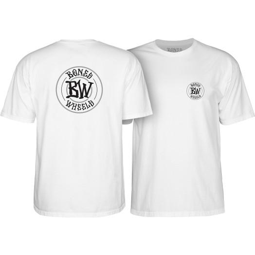 BONES WHEELS Branded T-shirt White