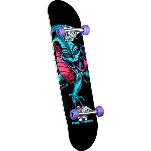 Powell Peralta Blacklight Caballero Dragon Purple Complete Skateboard - 7.75 x 31.75