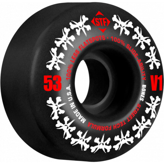 BONES WHEELS STF Rat Pack  53mm - Black (4 pack)