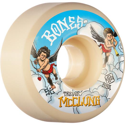 BONES WHEELS PRO STF Skateboard Wheels Trevor McClung McCherubs 52mm V1 Standard 99A 4pk