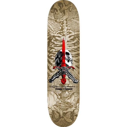 Powell Peralta Skull and Sword Skateboard Deck Natural - Shape 246 - 9.05 x 32.095